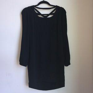 Diane von Furstenburg 3/4 Slleve Black Dress